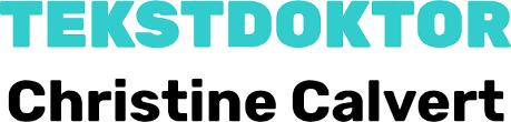 Logoen til Tekstdoktor Christine Calvert